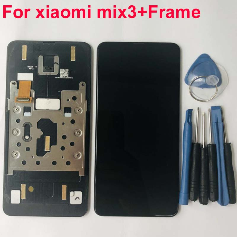 Super Amoled For Xiaomi Mi Mix3 LCD Display 10 Touch Screen Panel XAIOMI Mix 3 LCD