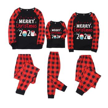 Family Christmas Matching Pajamas Set Xmas Adult Kids Cute Nightwear Pyjamas Deer Family Matching Outfits Family Look Sleepwear image