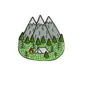 На открытом воздухе горный Звездная ночь эмалированная булавка на заказ дикий Кемпинг походный мешочек для брошек одежды нагрудная булавка значок Приключения ювелирные изделия подарок