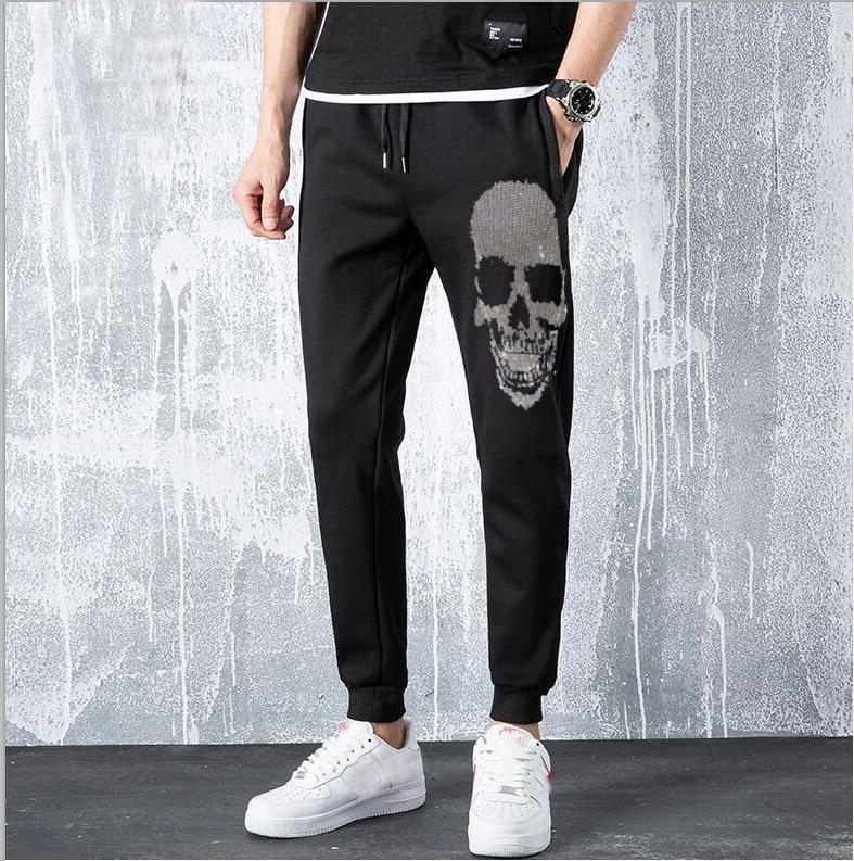 Autumn Men Pants Hip Hop Harem Joggers Pants 2020 New Male Trousers Mens Solid Hot Drill Pants Rhinestones Fit Sweatpants
