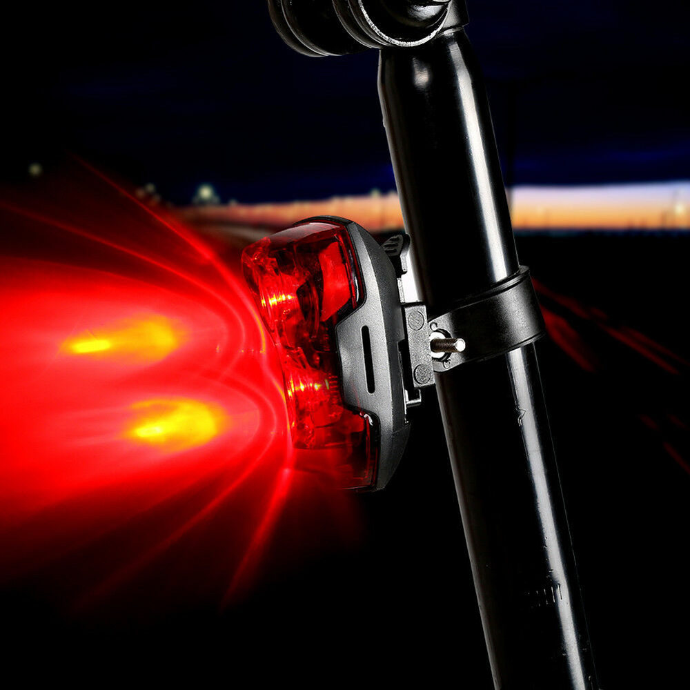 AAA Battery Style Red LED Bike Bicycle Light LED Taillight Rear Tail Waterproof Safety Warning Light Cycling Portable Tail Lamp