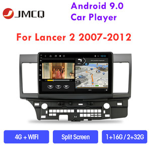 "JMCQ 10"" Android 9.0 T3L Car Radio Multimedia Video Player for Mitsubishi Lancer 2007-2012 Navigation GPS 2 din car dvd player(China)"