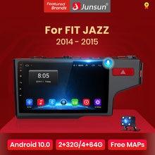 Junsun V1 Android 10.0 AI commande vocale 4G DSP autoradio Multimidia lecteur vidéo GPS pour HONDA FIT JAZZ 2014 2015 no 2 din 2din