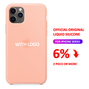 With LOGO Official Silicone Case For iPhone 7 8 6s 6 Plus SE 2020 Phone Case For Apple iPhone 12 Mini Xs X XR 11 Pro Max Cover