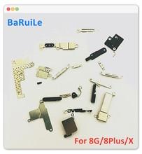 BaRuiLe حامل معدني كامل لجهاز iPhone 7 8 Plus X ، أجزاء صغيرة من الداخل ، مجموعة لوحة درع ، ملحقات ، 10 قطع