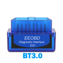 EEOBD E01 Obd2 סורק BT3.0 Bluetooth אנדרואיד מתאם רכב אוטומטי כלי אבחון ממשק סורק ELM327 OBD II רכב גלאי