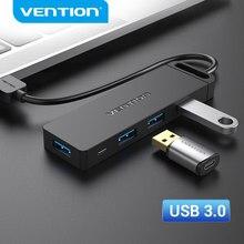 Vention USB Hub 3.0 Multi USB Splitter 4 porta USB 3.0 2.0 con alimentazione Micro carica per Lenovo Xiaomi Macbook Pro PC Hub USB 3 0