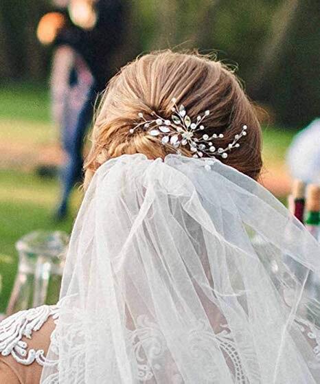 YouLaPan HP103-1 wedding hair accessories pearl bride headband pearl wedding headpieces for bride Bridal pins wedding clips 5