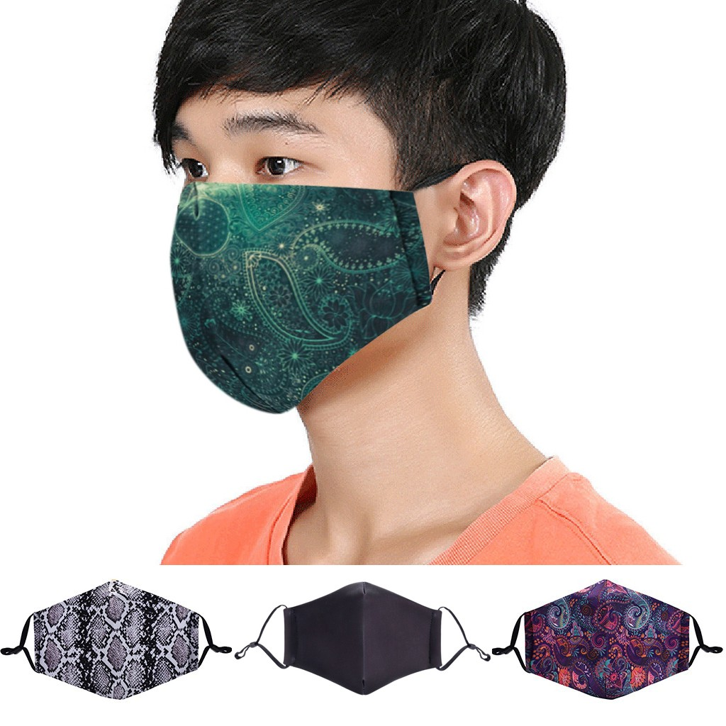 Reusable Anti-Dust Face Mask Washable Protective PM2.5 Filter Mouth Mask Fashion Anti Dust Mouth Mask Mouth-muffle Face Mask
