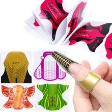 10 adet fransız tırnak formları uzatma profesyonel sahte oluşturucu şablon İpuçları UV jel eğrisi kağıt DIY tasarım manikür aracı LE941-2