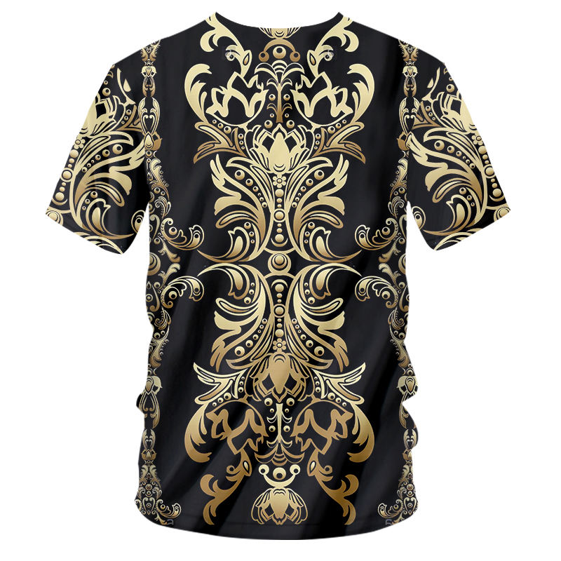 H19c26eef6dd2446ba540cd688c63b498a - 3d Baroque Palace Gold Flower T-shirt