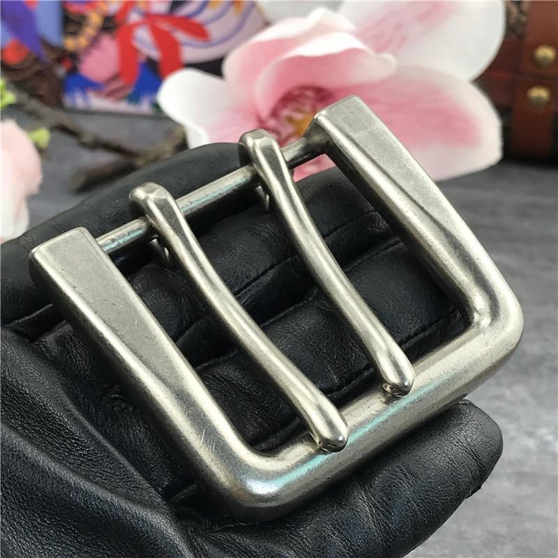 2PCS Alloy Double Buckle Belt Leather Craft Garment Accessories 42MM Belt Buckles For Men Clip Double Buckle For Belt AK0010