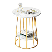 Simple and modern double deck storage tea table balcony bedside table