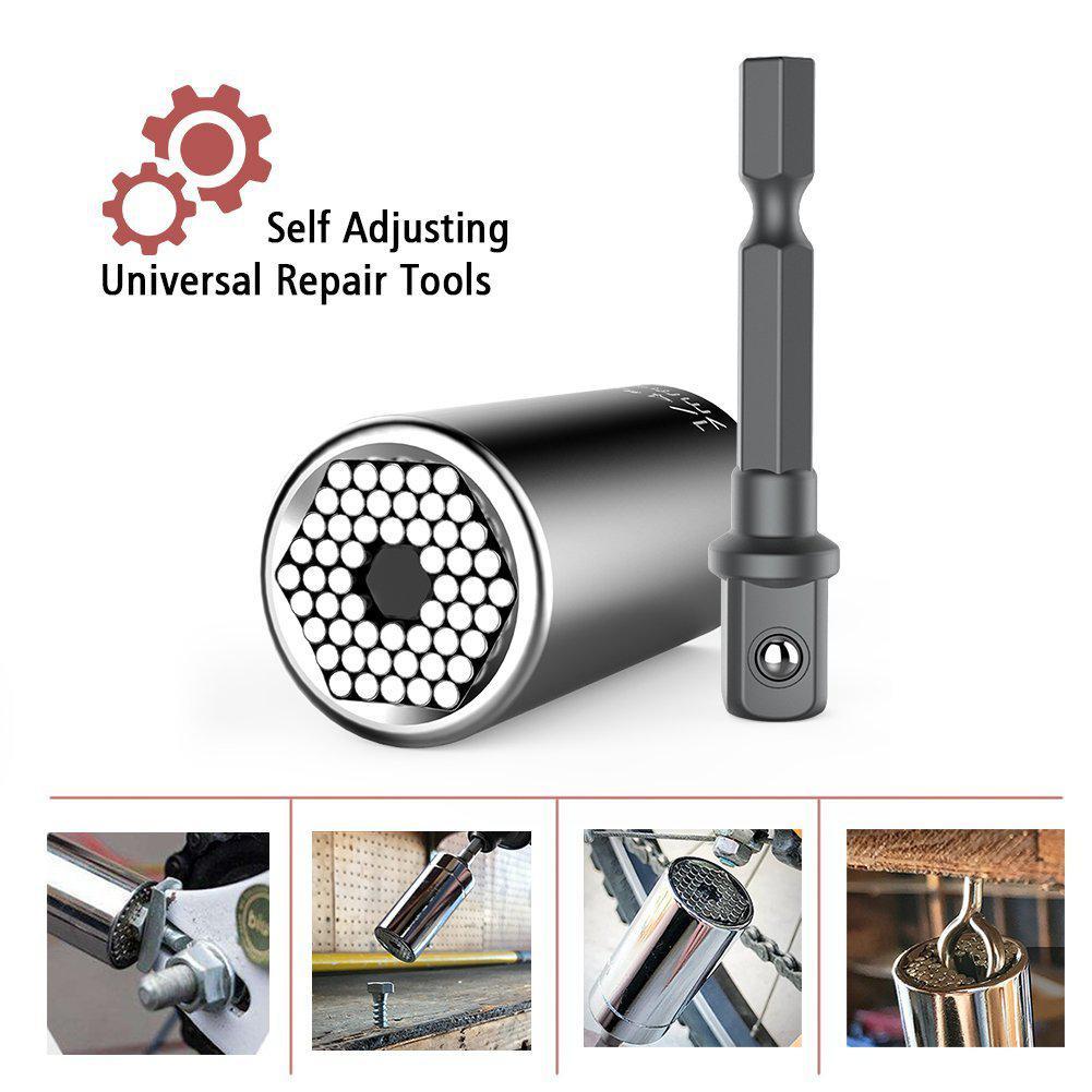 Universal Car Garage Tools Adjustable Torque Ratchet Socket Wrench Set Spanner Multi-Function Hand Tool Set Thread Repair Kit