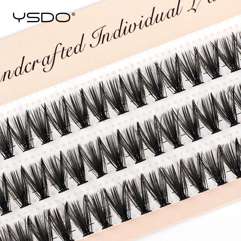 YSDO 60 пряди для наращивания ресниц Натуральные Искусственные норковые ресницы индивидуальные 10/20/30d ресницы для макияжа ресницы для накладн...