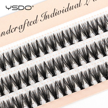 YSDO 60 Bundles Eyelash Extension Natural Faux Mink Eyelashes Individual 10/20/30D Cluster Lashes Makeup Cilia False Eye Lashes