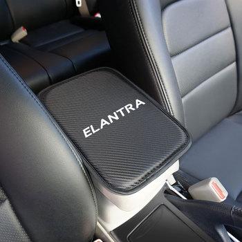 1 sztuk Auto konsola podłokietnik centralny miękka mata podkładka poduszka dla hyundai ELANTRA 2014-2019 akcesoria samochodowe tanie i dobre opinie FRONT 30cm GF15 Carbon fiber Decoration and protection CBJD6 21cm fit for ELANTRA CHINA