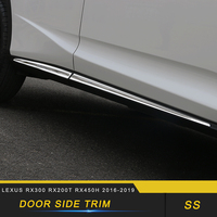 For Lexus RX300 RX200t RX450h 2015 2019 Car Styling Door Gate Side Sill Decoration Chrome Cover Exterior Accessories