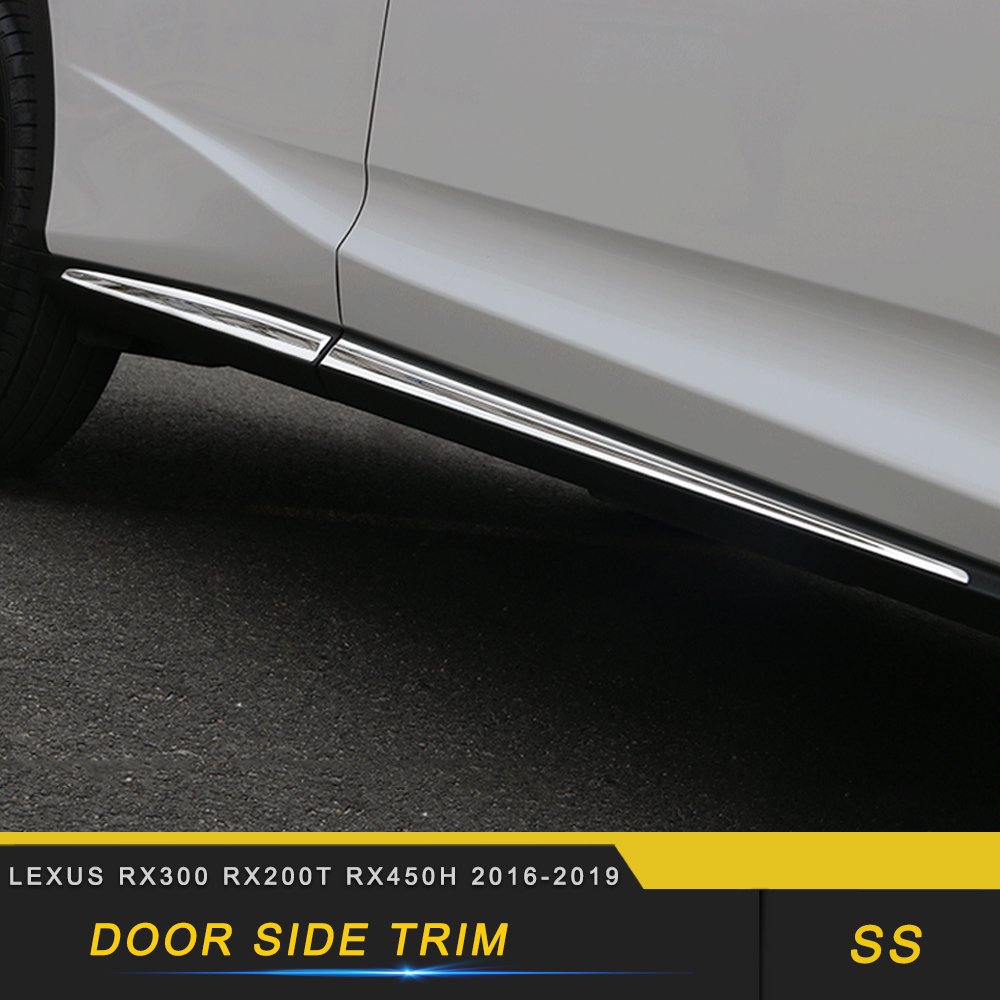 For <font><b>Lexus</b></font> RX300 <font><b>RX200t</b></font> RX450h 2015-2019 Car Styling Door Gate Side Sill Decoration Chrome Cover Exterior <font><b>Accessories</b></font> image