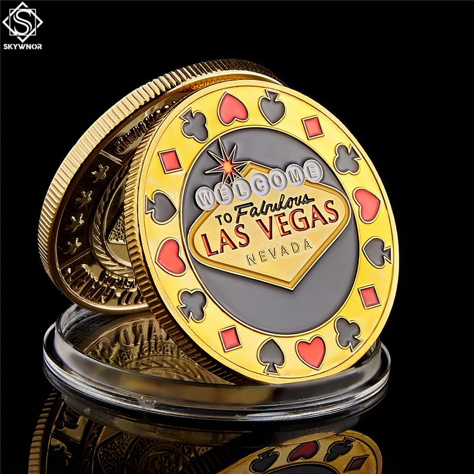 Добро пожаловать в Невада, Лас-Вегаса, покерный чип, Angel, descense, золотая монета, счастливый сувенир, персонализированная коллекция монет