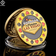 Poker-Chip Token Coin-Collection Angel Casino Vegas Challenge Gold Personalized Welcome-To-Nevada-Las