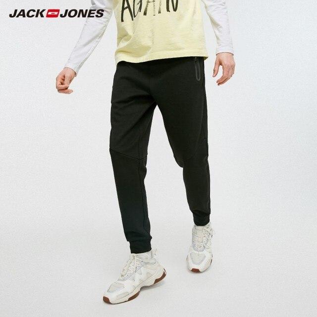 JackJones بنطال رياضي رجالي مطاطي بنطلون رياضي ضيق مناسب للياقة البدنية بنطلون رياضي JackJones 219314526