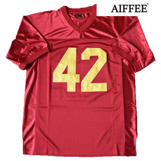 AIFFEE Football Jersey from Movie tv Hip Hop Shirts Tees t shirt Stitched Costume 44 42 13 33 45 Stitched Name and Number S-3XL 3