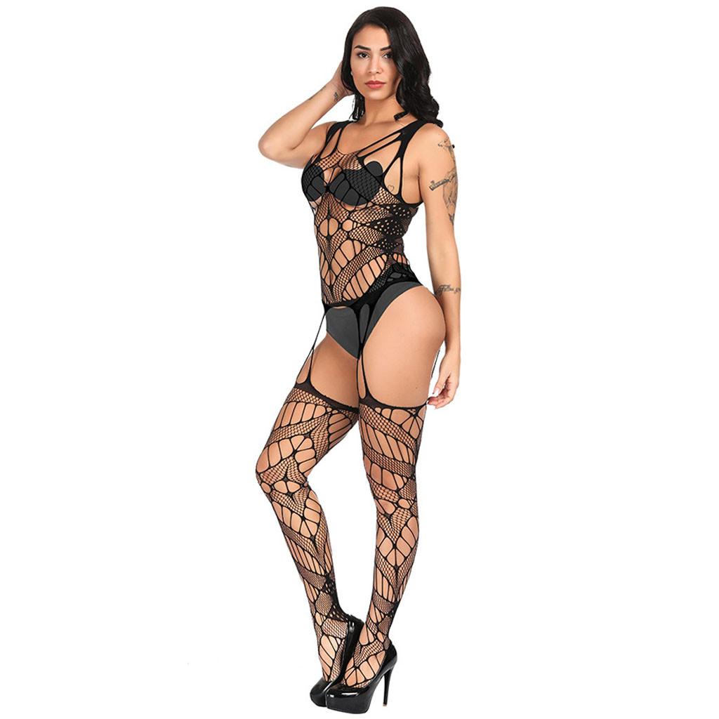 Sexy beby doll sexi Women Temptation Mesh Lingerie Hollow out Fishnet Underwear crotchless Mesh stockings трусы женские q5