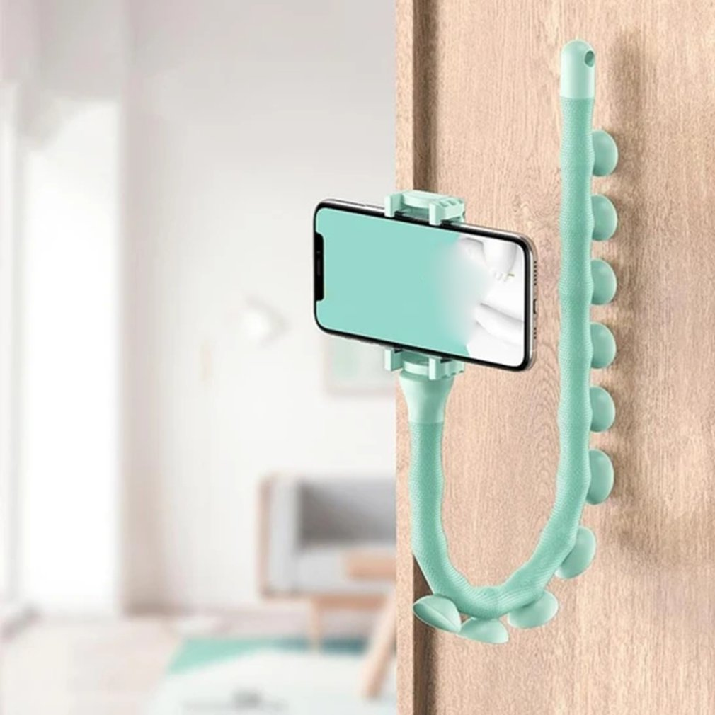 2020 Wall Caterpillar Lazy Bracket Mobile Phone Holder Worm Flexible Phone Suction Cup Stand For Home Wall Desktop Bicycle