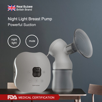 Maternal postpartum Powerful suction breast pumps Natural frequency conversion Luminous design electric breast pump with Bottle
