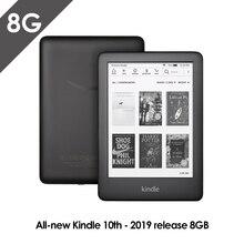Все новые Kindle черный 2019 версия со встроенным спереди светильник Wi-Fi 8GB для чтения электронных книг e-ink экран 6-дюймовый Электронные книги