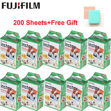 Fujifilm Белый 10-200 листов Instax Mini пленка для FUJI Instant Photo camera Mini 9 Mini 8 7s 70 90+ сумка для фотоальбома