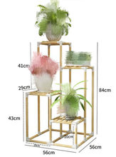 Brief Wood Shelves Flower Stand 4 Layer Solid Wood Flower Rack Balcony Flower Indoor Garden Wood Plant Stand Decoration Shelf(China)