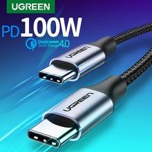 Ugreen USB Type C USB CสำหรับSamsung Galaxy S9 PD 100W Fast ChargerสำหรับMacbookสนับสนุนQuick Charge 4.0 USB
