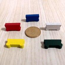 50 peças 20*10*5mm colorido carrinho de madeira carro chariot forma peças de jogo diy marcas para tokens placa jogos acessórios