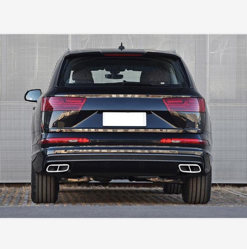 2 di aggiornamento 4 fori In acciaio Inox Per AUDI Q7 2016-19 4M Auto Posteriore di Scarico Tubo di Coda Della Copertura trim Silenziatore Accessori di Alta Qualità