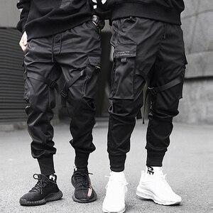 Image 1 - Aelfric Eden Bänder Hüfte Hop Cargo Hosen Männer Schwarz Tasche Streetwear Harajuku Techwear Hosen Hosen Harem Jogger Jogginghose