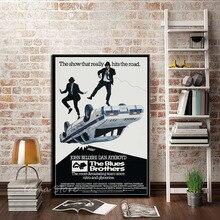 J035 los azules Brothers 1980 Retro Vintage Banda de Música de película regalo pared arte decoración pintura póster impresiones lienzo