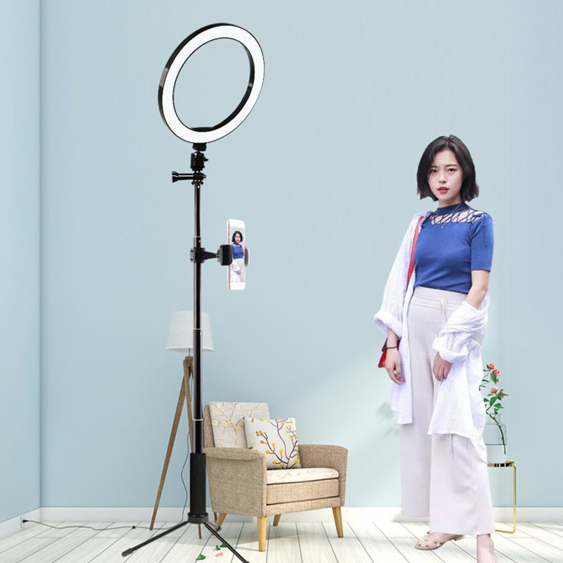 Ring Light Dimmable LED Studio Camera Photo Phone Video Light Lamp With Tripods Selfie Stick Ring Table Fill Light For VK