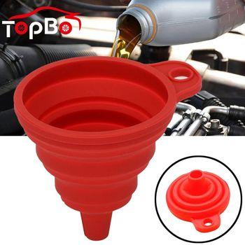 Universal Car Auto silnik lejek benzyna oleju paliwa benzyna Diesel płyn do mycia płyn zmiana składane wypełnienie Transfer składany tanie i dobre opinie CN (pochodzenie) Silicone folding funnel Eco-Friendly 7 5*6 8cm 11*11cm -40°C to 230°C Universal fit for all of cars