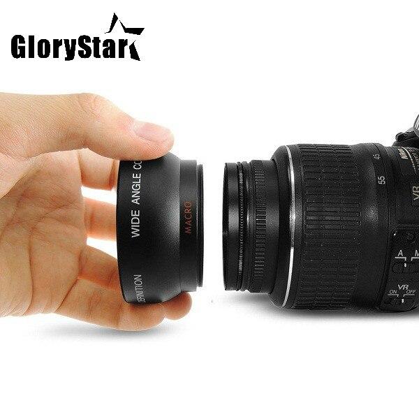 GloryStar 58 مللي متر 0.45x عدسة واسعة الزاوية + ماكرو عدسات لكاميرات كانون EOS 350D/400D/450D/500D/1000D/550D/600D/1100D Nikon
