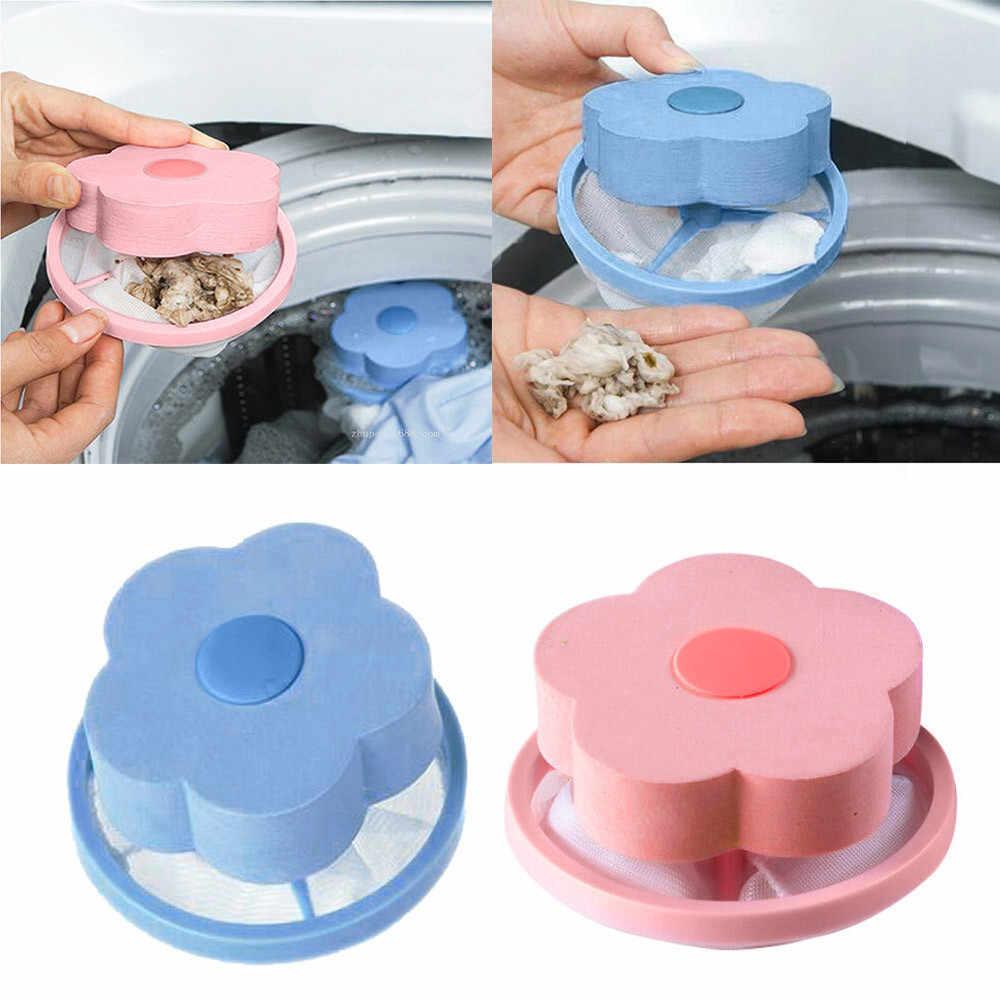 洗濯機ヘアリムーバーフィルターバッグメッシュフィルタリング毛除去装置ウールフローティング洗濯機クリーニング必要