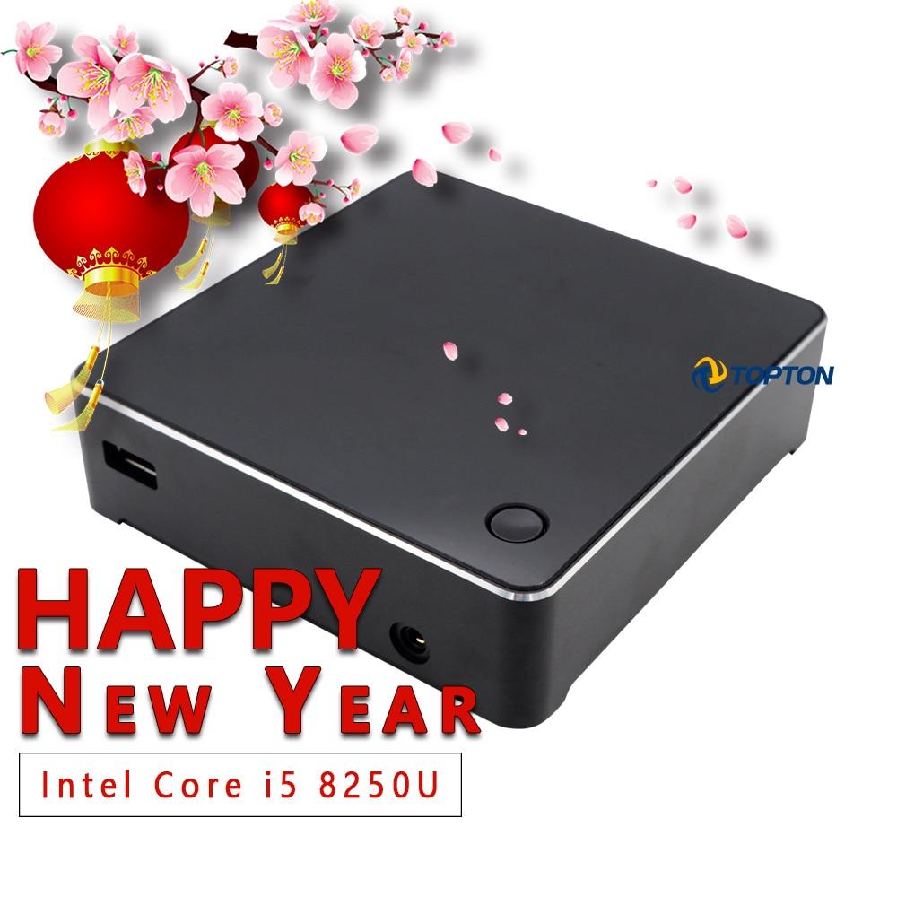 Palm Size 8th Gen Mini PC Intel Core I5 8250U M.2 SSD NUC Windows 10 Pro Pocket PC USB-C HDMI Mini-DP AC WiFi 4K HTPC TV Box