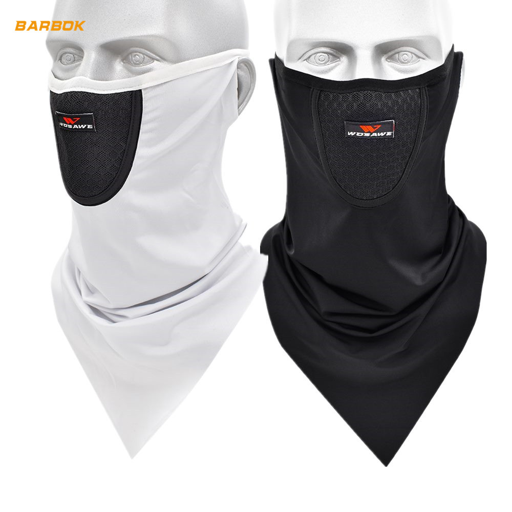 WOSAWE Breathable Motorcycle Mask UV Protection Sweat Neck Sleeve Earloop Cycling Running Training Facemask Scarf Shield