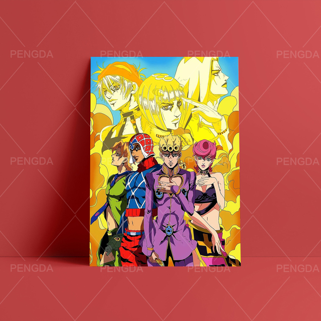 Paintings Wall Art Canvas Modular Picture HD JoJo's Bizarre Adventure Print Anime Posters No Frame For Living Room Home Decor