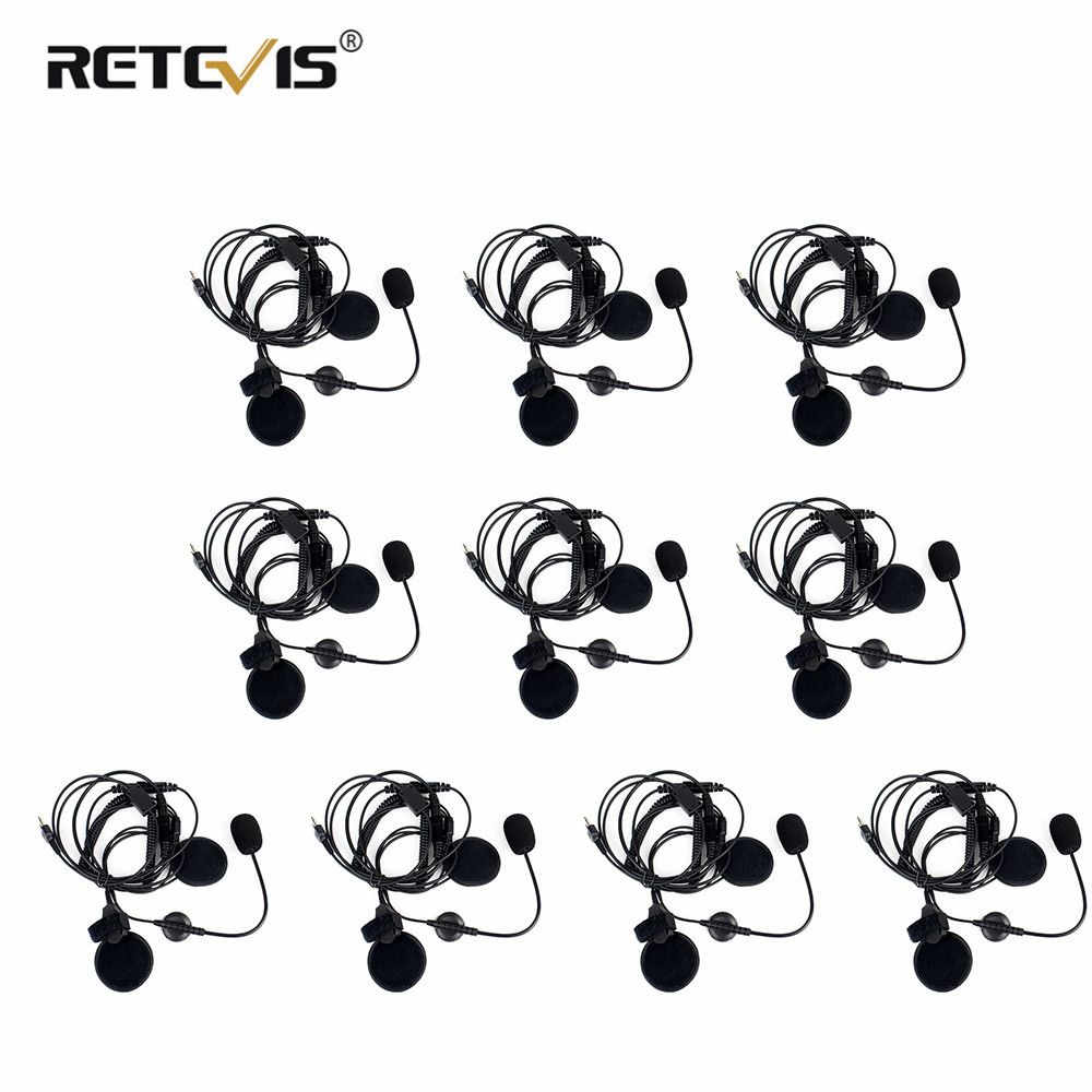 10pcs Professional Motorcycle Helmet Headset Microphone Earpiece For Midland Walkie Talkie With Finger PTT C2150A