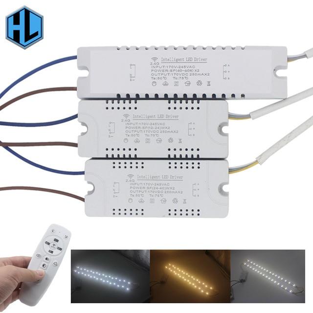 12 24Wx2 bezpieczeństwa LED z tworzywa sztucznego sterownik AC165 265V napęd zasilania transformatora z pilot na podczerwień do oświetlenia LED