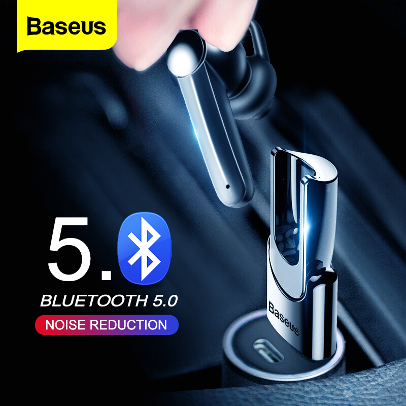 Baseus Magnetic Charging Wireless Bluetooth Earphone Bluetooth Headset Single Handsfree with Microphone Business USB Ear Hook|Bluetooth Earphones & Headphones|   - AliExpress