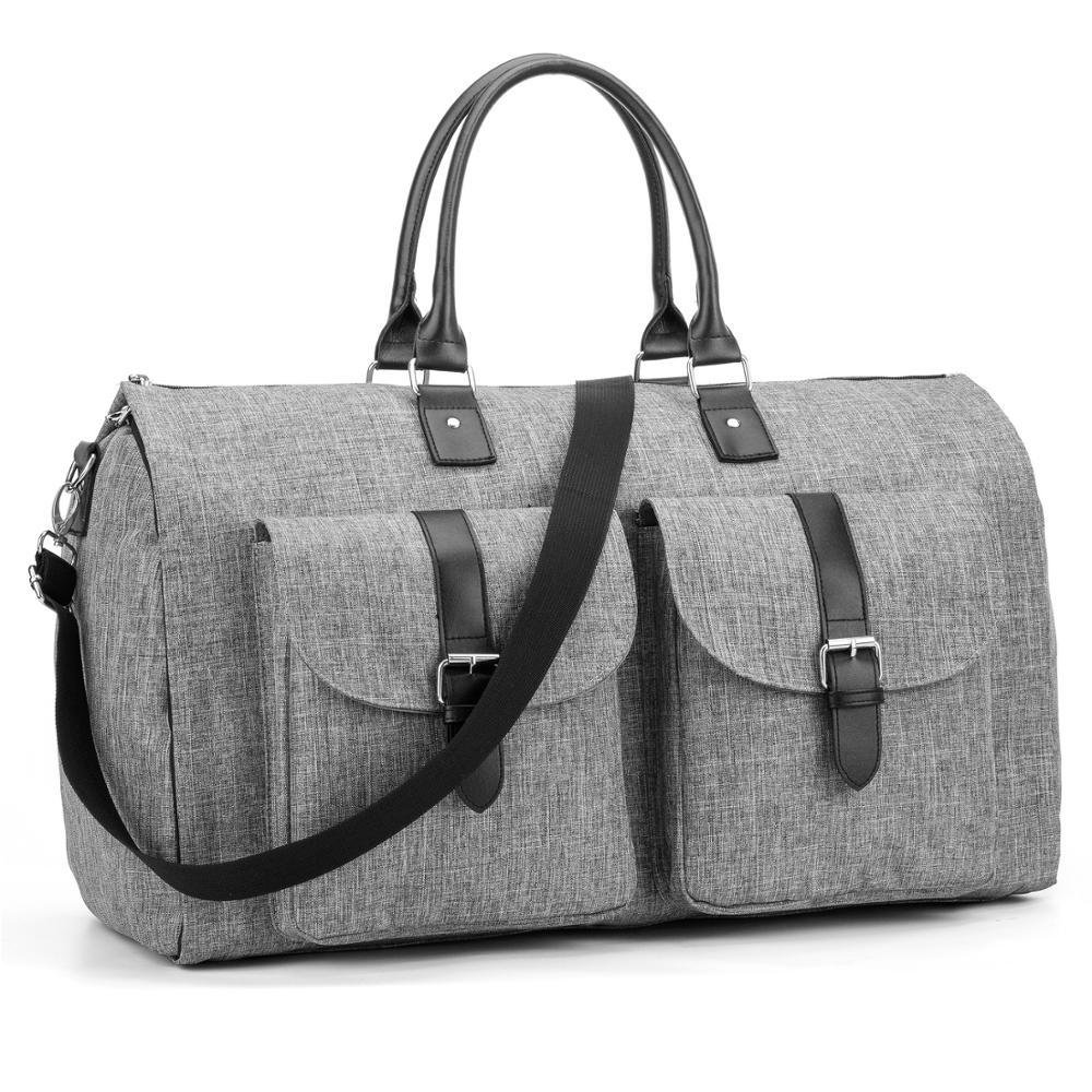Modoker grand vêtement voyage sacs organisateur bagages pour hommes ensemble emballage Cube valise vêtements affaires sac Multiple poche gris