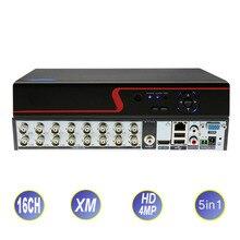 Гибридный видеорегистратор Hi3531A, 16 каналов, 4 МП, NVR, 5 в 1, AHD, для аналоговых IP-камер видеонаблюдения, AHD, CVI, TVI, 1080P